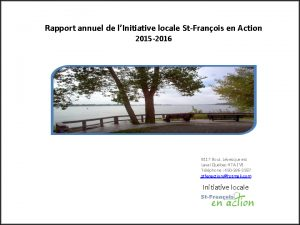 Rapport annuel de l'Initiative locale St-François en Action